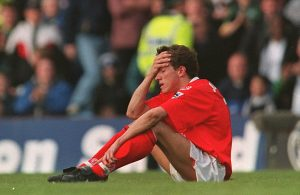 LEEDS V MIDDLESBOROUGH. LAST GAME OF THE 96'/97' SEASON.  EMOTIONAL JUNINHO  AFTER MIDDLESBOROUGH LOST TO LEEDS AND ARE RELAGATED FOR NEXT SEASON
