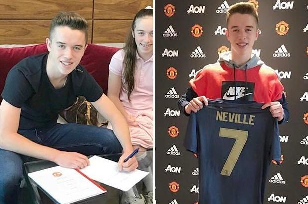 Ο γιός του Phil Neville, Harvey στη United